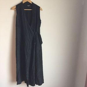 J. Jill Silk Wrap Dress with Waist Tie